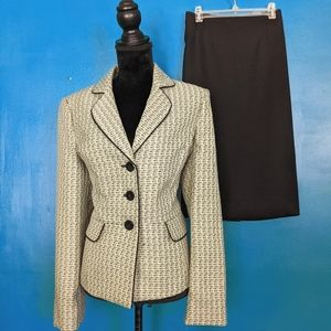 NWT Le Suit Blu Grotto Jacket and Skirt Suit 14